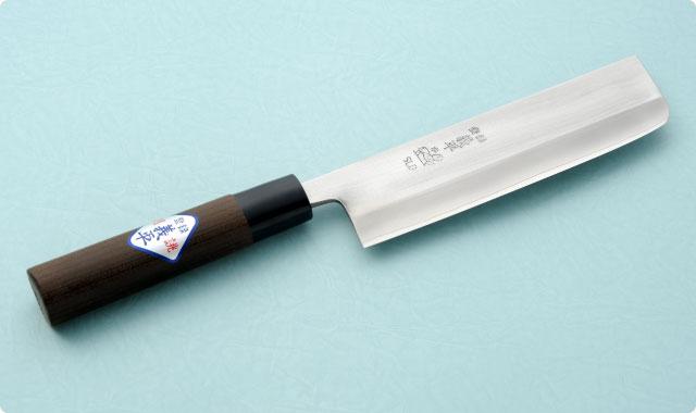 菜切包丁 両刃 165mm 冷間ダイス鋼 和包丁タイプ