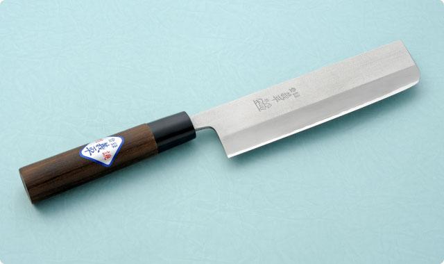 菜切包丁 両刃 165mm 青紙2号(ステンレス梨地) 和包丁タイプ
