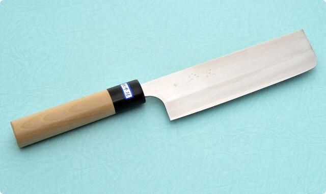 菜切包丁 両刃 165mm 粉末ハイス鋼 和包丁タイプ 風花