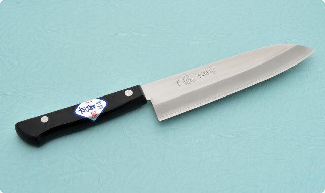 三徳包丁 両刃 170mm 冷間ダイス鋼 洋包丁タイプ