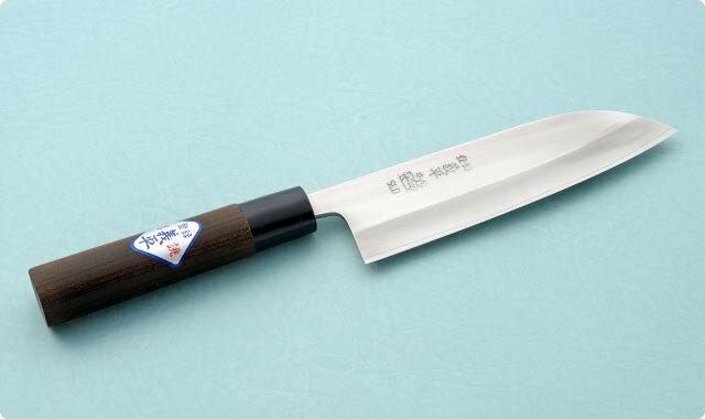 三徳包丁 両刃 165mm 冷間ダイス鋼 和包丁タイプ