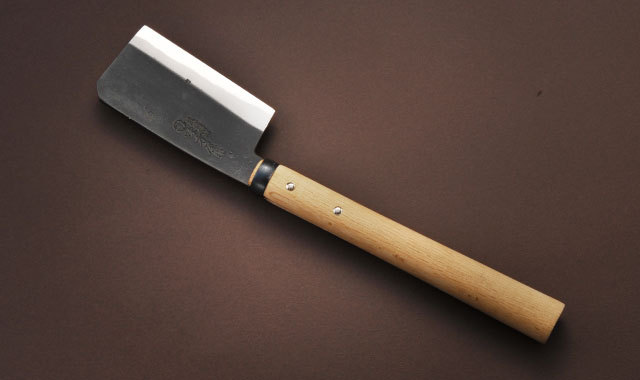 鞘鉈 東型 片刃 黒打ち 135mm