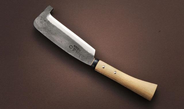 箸付鉈 片刃 黒打ち 180mm
