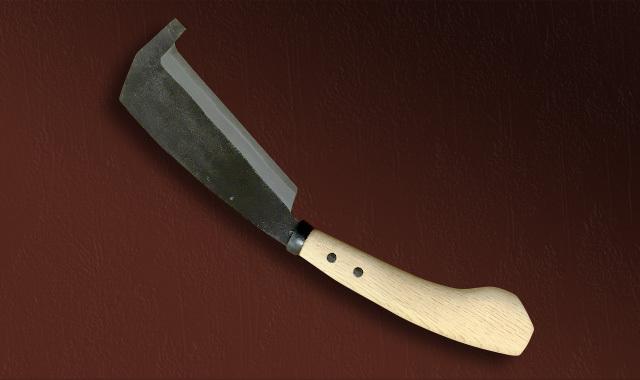 箸付鉈『下田型』 両刃 黒打ち 180mm