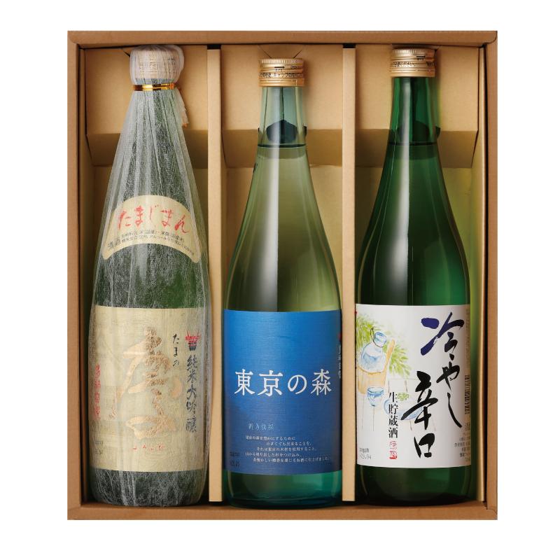 多満自慢 たまの慶・東京の森・冷やし辛口 720ml 3本セット 化粧箱入り