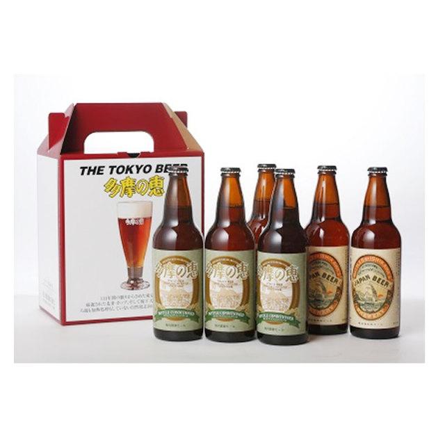 多摩の恵 明治復刻地ビールとボトルコンディションの6本セット 500ml【化粧箱代込】