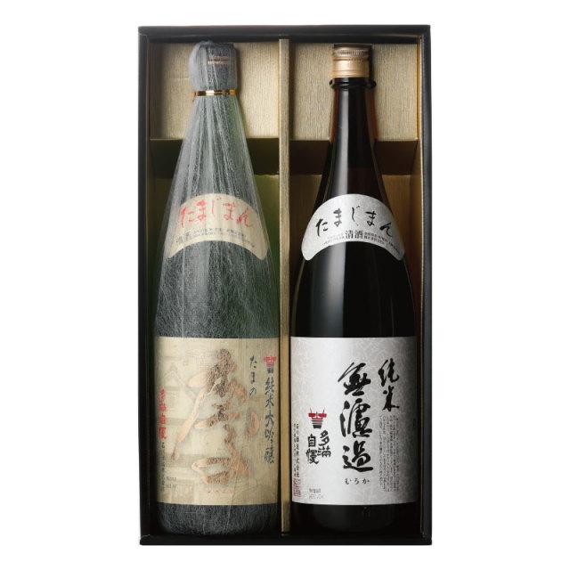 ギフトたまの慶・純米無濾過1.8L【化粧箱】