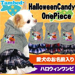愛犬のお名前入り★ハロウィンキャンディ★ワンピース