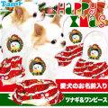 愛犬のお名前入り★ハッピークリスマス★つなぎ&ワンピース