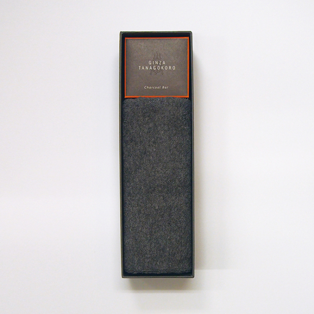チャコールバー160g&フェイスタオルのギフトセット