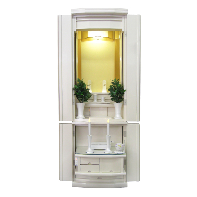 家具調仏壇 ブランチ パールホワイト