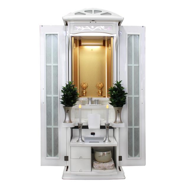 家具調仏壇 シャトー ホワイトメタリック