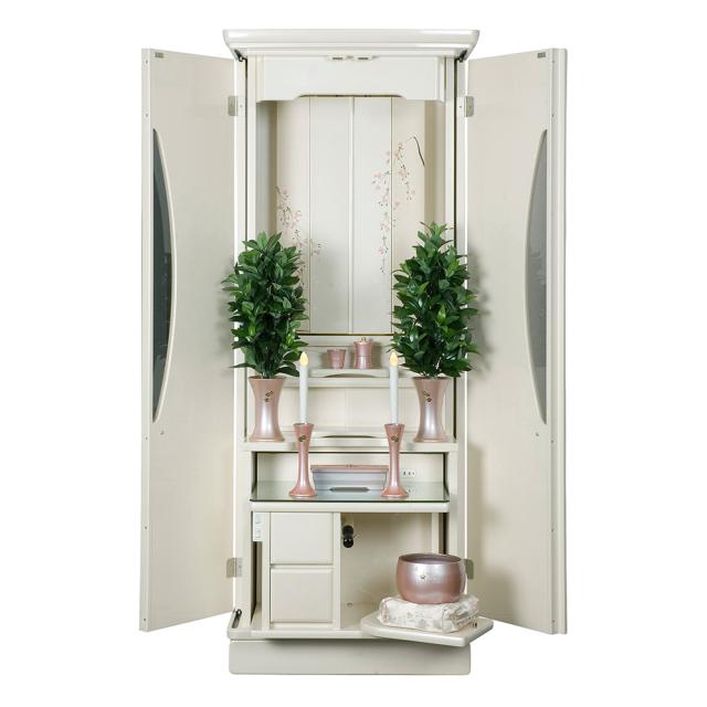 家具調仏壇 新世紀2型 パールホワイト