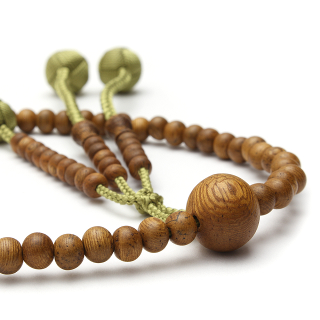 木製念珠 男女兼用 インド菩提樹 [特選]