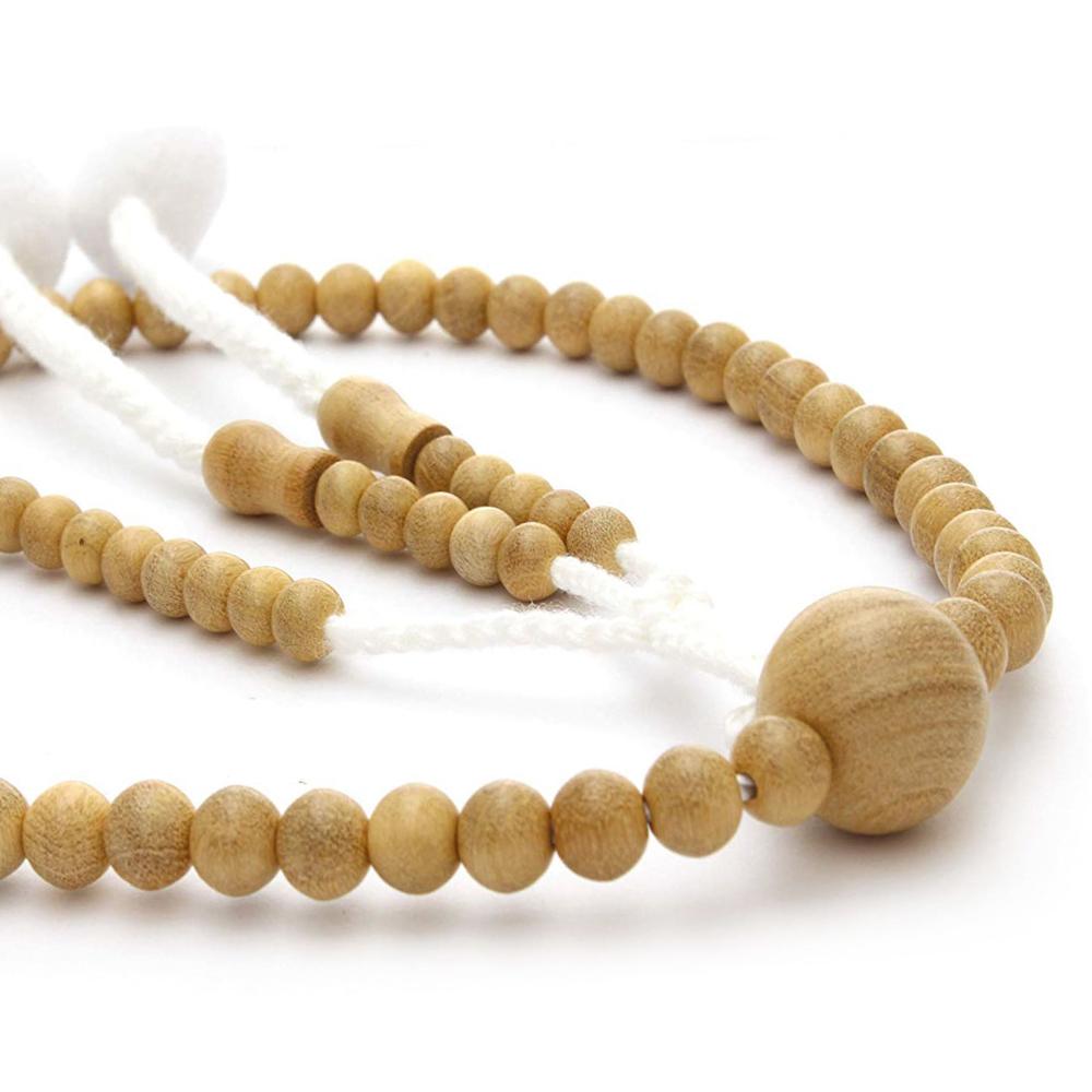 木製念珠 女性用 黄揚(つげ)