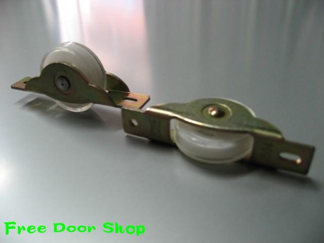 鉄枠ウレタン戸車(平型)2個入 (m-005)