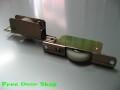 鉄枠ウレタン調整戸車(平型)2個入 (m-007)