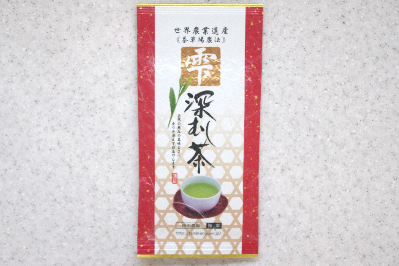 深蒸し茶 100g入 (朱-雫)