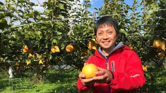 果樹農家の岡崎さん
