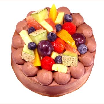誕生日,デコレーションケーキ,生チョコデコ