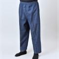 デニム作務衣パンツ 裾ストレート(紳士用) 日本製