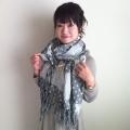 【送料無料】二重紋織り大判ストール