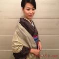 【送料無料】武州草木染の匠が染めた真綿ストール グリーン(よもぎ染め)