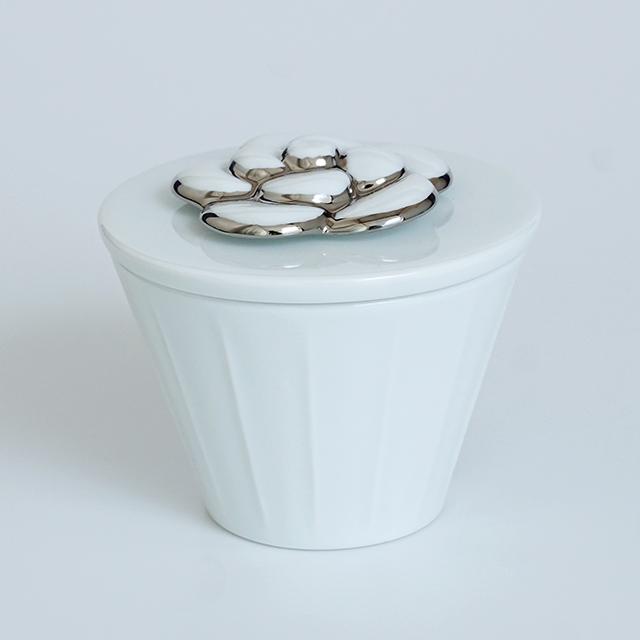 波佐見焼 水晶彫の丹心窯 アミューズ カメリア 白磁 白い器
