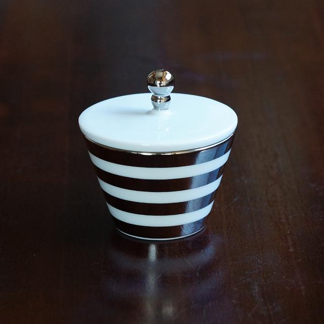 【水晶彫の丹心窯】アミューズカップ プラチナボーダー