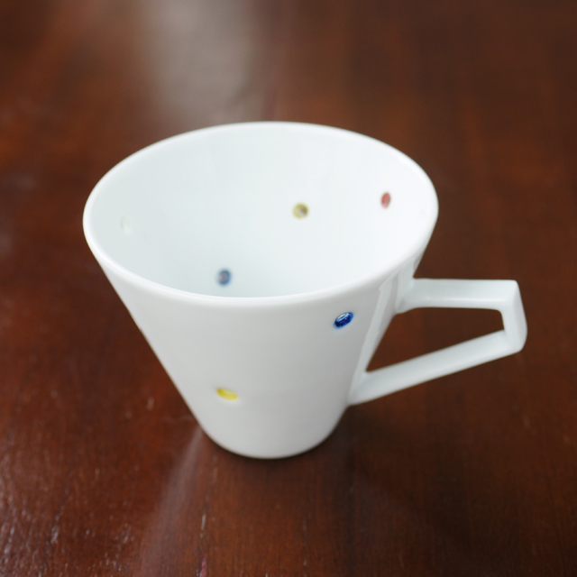 水晶彫の丹心窯  アクアドットカラフルデミタスカップ