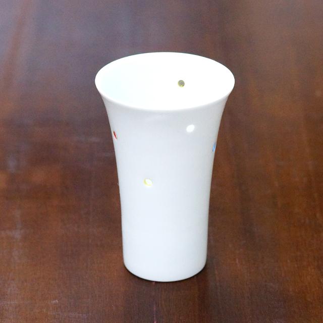 【水晶彫の丹心窯】アクアドットシリーズ ビールコップ
