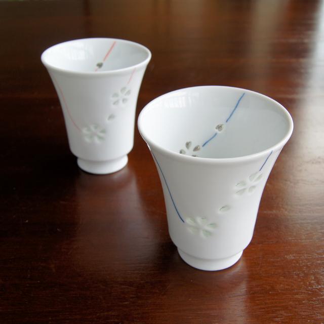 花あそびTースタイルカップ(ブルー・レッド)