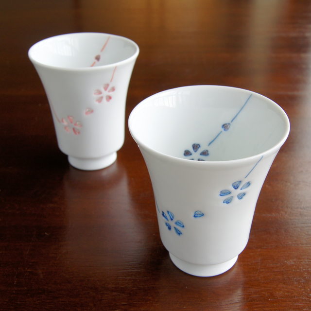 カラー花あそびT-スタイルカップ(ブルー・レッド)