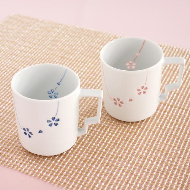 花あそび(カラー) Tースタイルマグカップ(ペア)