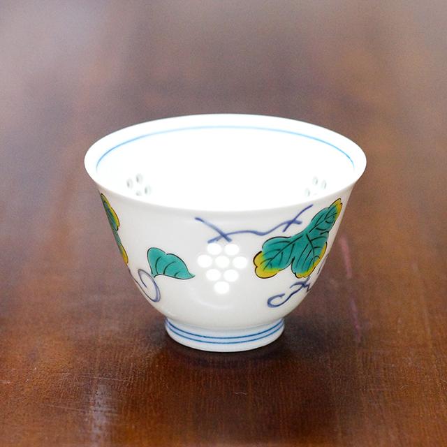 【水晶彫の丹心窯】水晶ぶどう反仙茶