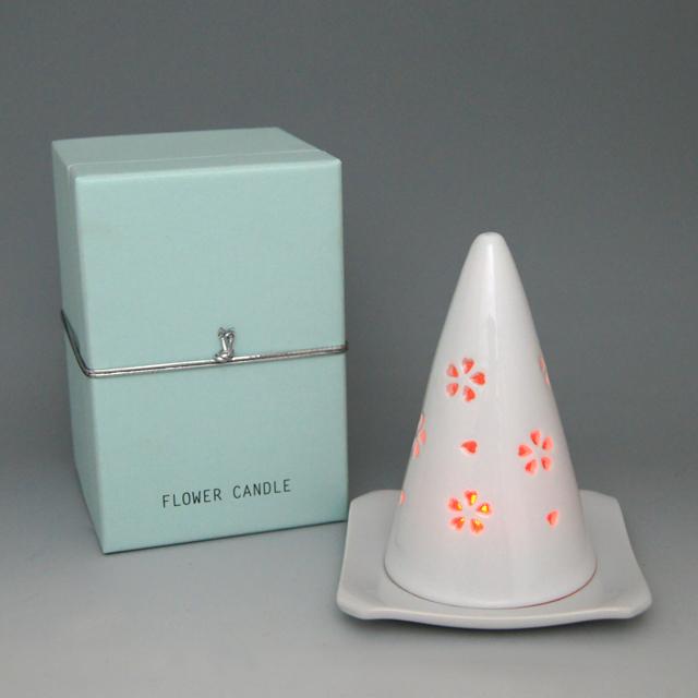 水晶彫フラワーキャンドル(大) 丹心窯