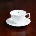 【水晶彫の丹心窯】アクアドットシリーズ Vコーヒーカップ&ソーサー