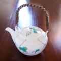 水晶彫の丹心窯 水晶ぶどう土瓶