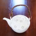 水晶彫の丹心窯 水晶花詰土瓶