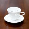 【水晶彫の丹心窯】水晶花詰デミタスカップ&ソーサー