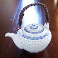 水晶彫の丹心窯 水晶青海波土瓶
