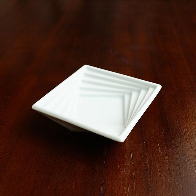 【水晶彫の丹心窯】スパイラル小鉢 スクエア