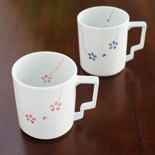 水晶カラ―花あそびT-スタイルマグカップ