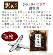 『きゅうりのピリ辛醤油漬』【メール便対応1通4個まで】