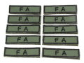 陸上自衛隊 戦闘装着セット 部隊章(部隊名の部分だけ) 10枚セット 【スマートレター便可】
