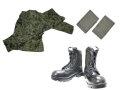戦闘服(リップストップ2型)・足ゴムバンド・楯桜長靴 綺麗に着こなす3点セット B