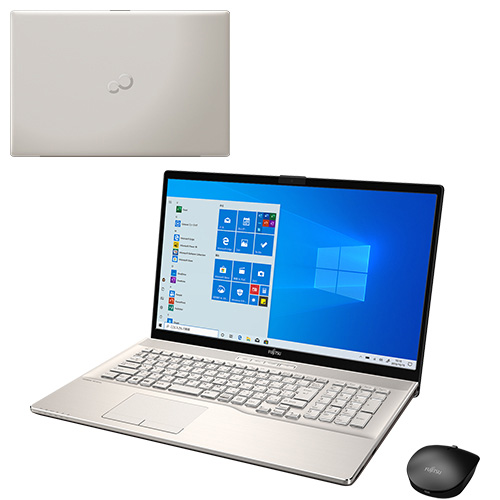 【再生品】LIFEBOOK NH93/D2 /Windows 10 /Core i7-9750H /16GB Optane + 2TB 16GB 17.3型FHD Blu-ray TV シャンパンゴールド