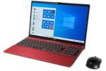【再生品】LIFEBOOK AH53/D3 /Windows 10 /Core i7-8565U /512GB SSD + 1TB 8GB FHD Blu-ray Office ガーネットレッド