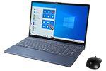 【再生品】LIFEBOOK AH77/D3 /Windows 10 /Core i7-9750H /32GB Optane + 512GB SSD + 1TB 8GB FHD Blu-ray Office メタリックブルー