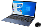 【再生品Aランク】LIFEBOOK AH79/D3 /Windows 10 /Core i7-9750H /32GB Optane + 512GB SSD 8GB FHD Blu-ray Office メタリックブルー